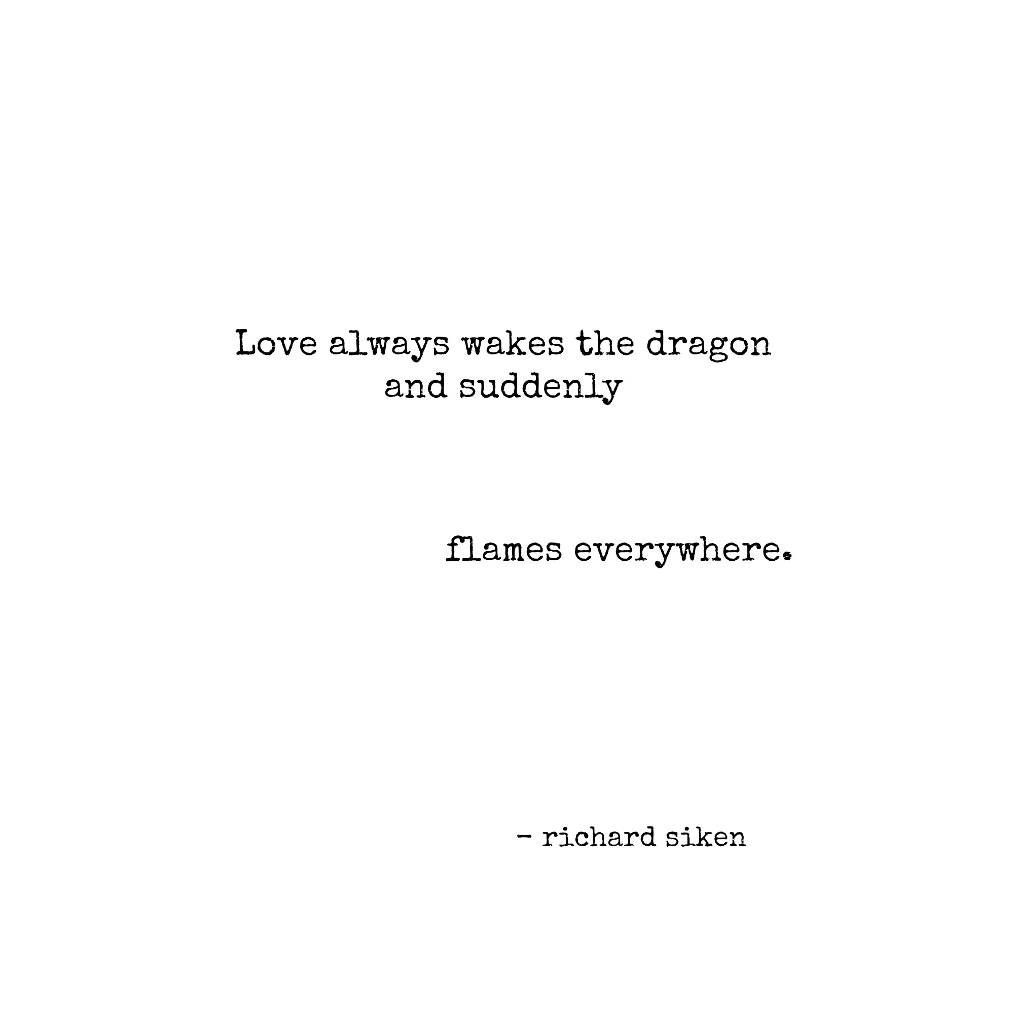 Love wakes the dragon